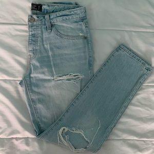 Light Wash Ames Slim Boyfriend Distressed Jeans